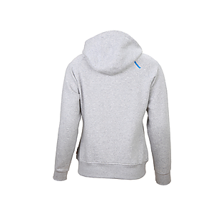 Wildcraft Women Zippered Hooded Sweatshirt - Light Grey Melange