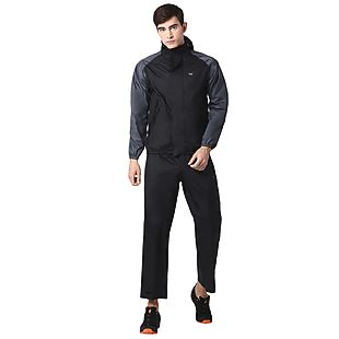 Wildcraft Hypadry Unisex Rain Jacket Suit 2 Tone - Black