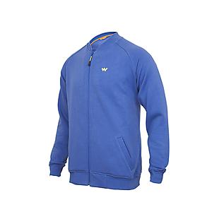 Wildcraft Men Bomber Sweatshirt - Blue