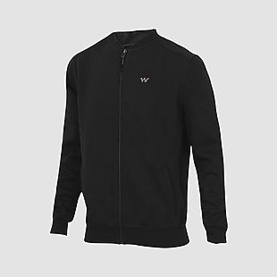 Wildcraft Men Zippered Sweatshirt For Winter - Black