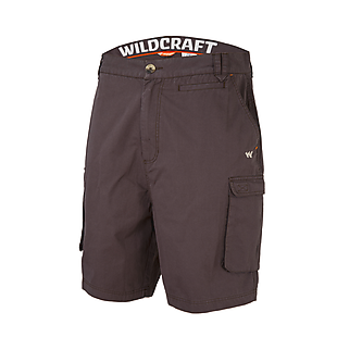 Wildcraft Men 7-Pocket Cargo Shorts - Dark Brown
