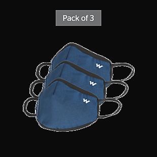 Wildcraft SUPERMASK W95 Plus Reusable Outdoor Respirator - GRINDLE BLUE - Pack of 3